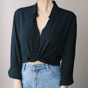 Silk Blouse Banana Republic Black